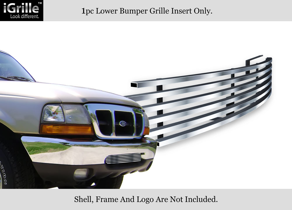 Fits 2004-2005 Ford Ranger Stainless Steel Bumper Billet Grille Insert